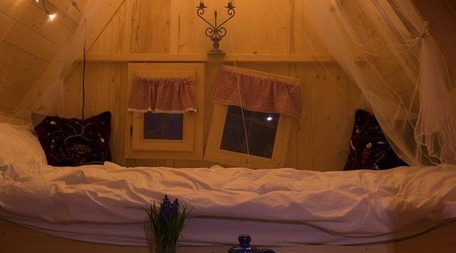 Cabane en bois : chambre