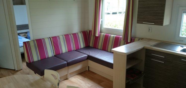Mobil-home gamme confort + salon camping morbihan