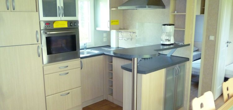 Mobil-home gamme luxe cuisine camping morbihan